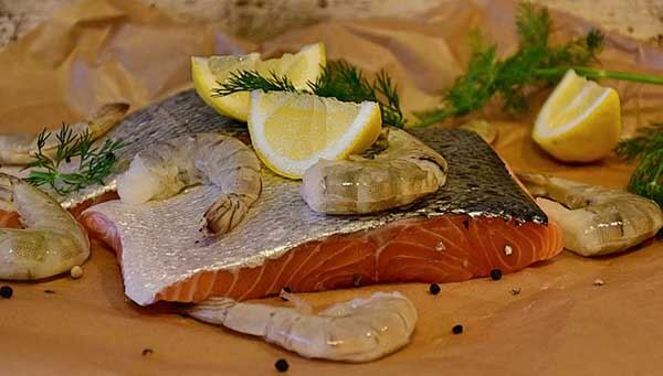 christmas party catering salmon