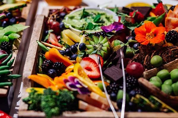 cold buffet fruit platter for corporate catering
