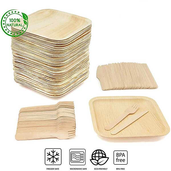 Upgrade To Disposable Bamboo Plates And Cutlery