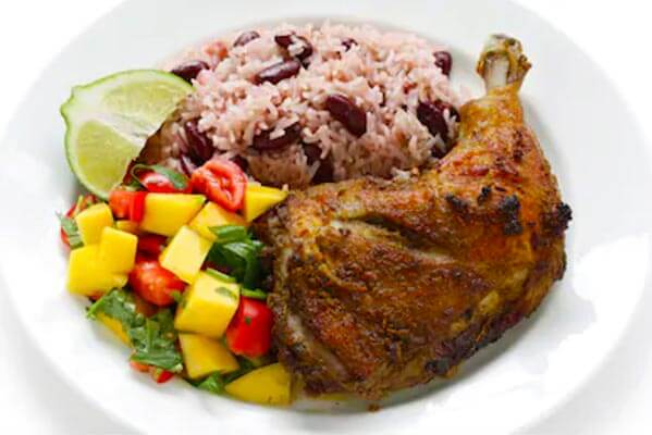Jamaican Jerk Chicken with Easy Rice & Peas Recipe