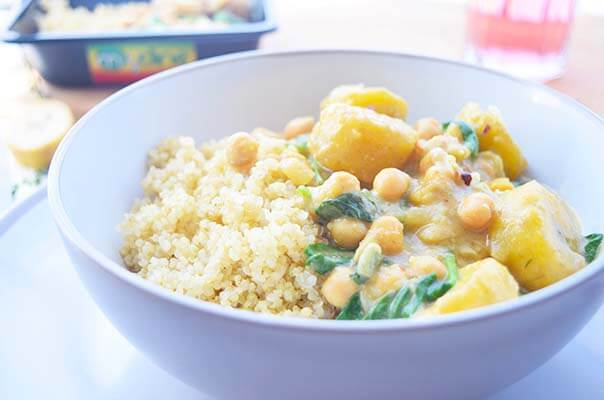 Plantain Chickpea Coconut Vegan Curry